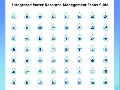 Integrated Water Resource Management Icons Slide Portrait PDF