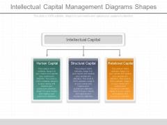 Intellectual Capital Management Diagrams Shapes