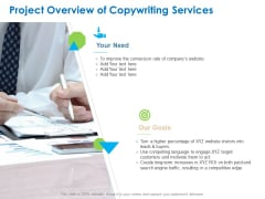 Intellectual Property Project Overview Of Copywriting Services Ppt PowerPoint Presentation Outline Gridlines PDF