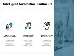 Intelligent Automation Continuum Ppt PowerPoint Presentation Summary Rules
