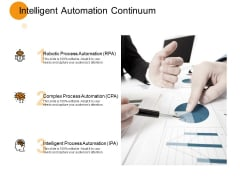 Intelligent Automation Continuum Process Ppt PowerPoint Presentation Inspiration Designs Download