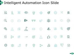 Intelligent Automation Icon Slide Marketing Ppt PowerPoint Presentation Summary Smartart