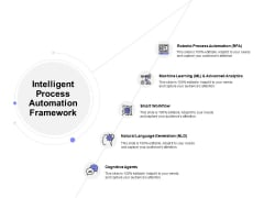 Intelligent Process Automation Framework Ppt PowerPoint Presentation File Examples