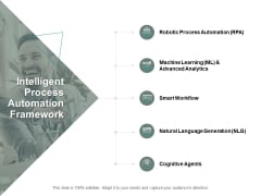 Intelligent Process Automation Framework Ppt PowerPoint Presentation Gallery Graphics