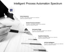 Intelligent Process Automation Spectrum Ppt PowerPoint Presentation Slides Skills