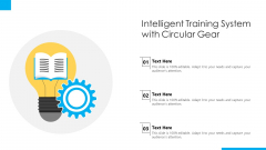 Intelligent Training System With Circular Gear Ppt PowerPoint Presentation Gallery Objects PDF