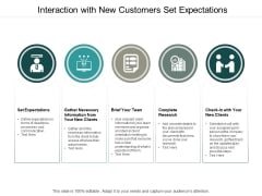 Interaction With New Customers Set Expectations Ppt PowerPoint Presentation Styles Shapes