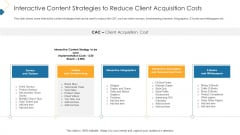Interactive Content Strategies To Reduce Client Acquisition Costs Professional PDF
