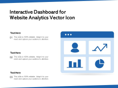 Interactive Dashboard For Website Analytics Vector Icon Ppt PowerPoint Presentation Icon Background Images PDF
