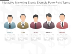 Interactive Marketing Events Example Powerpoint Topics