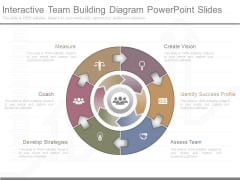 Interactive Team Building Diagram Powerpoint Slides