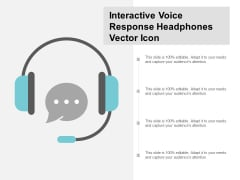 Interactive Voice Response Headphones Vector Icon Ppt PowerPoint Presentation Professional Images