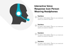 Interactive Voice Response Icon Person Wearing Headphones Ppt PowerPoint Presentation Pictures Themes