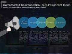 Interconnected Communication Steps Powerpoint Topics