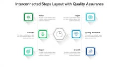 Interconnected Steps Layout With Quality Assurance Ppt PowerPoint Presentation Infographics Vector PDF