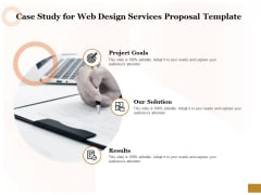 Interface Designing Services Case Study For Web Design Services Proposal Template Diagrams