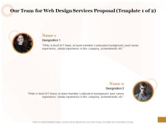 Interface Designing Services Our Team For Web Design Services Proposal Achievements Demonstration