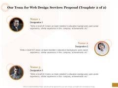 Interface Designing Services Our Team For Web Design Services Proposal Team Ideas