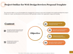 Interface Designing Services Project Outline For Web Design Services Proposal Template Topics