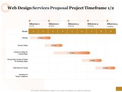 Interface Designing Services Web Design Services Proposal Project Timeframe Planning Information