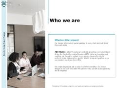 Interior Fitting Proposal Who We Are Ppt Ideas Graphics Design PDF