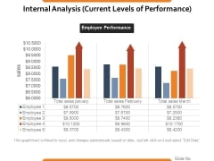 Internal Analysis Current Levels Of Performance Ppt PowerPoint Presentation Ideas Vector