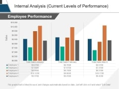 Internal Analysis Current Levels Of Performance Ppt PowerPoint Presentation Tips