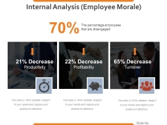 Internal Analysis Employee Morale Ppt PowerPoint Presentation Styles Slide Portrait