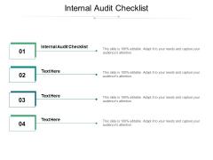Internal Audit Checklist Ppt PowerPoint Presentation Show Gridlines Cpb
