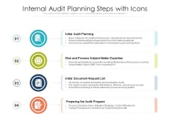 Internal Audit Planning Steps With Icons Ppt PowerPoint Presentation Summary Icons PDF