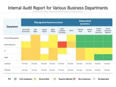 Internal Audit Report For Various Business Departments Ppt PowerPoint Presentation Professional Layout PDF