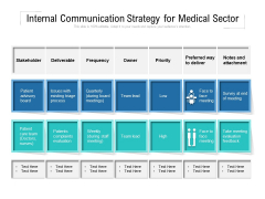 Internal Communication Strategy For Medical Sector Ppt PowerPoint Presentation Pictures Smartart PDF