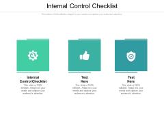 Internal Control Checklist Ppt PowerPoint Presentation Icon Professional Cpb