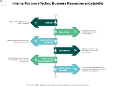 Internal Factors Affecting Business Resources And Stability Ppt PowerPoint Presentation Icon Background Designs