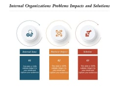 Internal Organizations Problems Impacts And Solutions Ppt PowerPoint Presentation Layouts Example PDF
