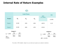 Internal Rate Of Return Examples Ppt PowerPoint Presentation Pictures Styles