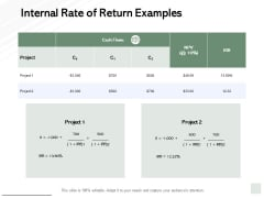 Internal Rate Of Return Examples Ppt PowerPoint Presentation Portfolio Deck
