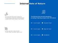 internal rate of return ppt powerpoint presentation ideas mockup