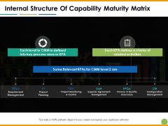 Internal Structure Of Capability Maturity Matrix Ppt PowerPoint Presentation Portfolio Design Templates