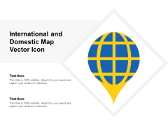 International And Domestic Map Vector Icon Ppt PowerPoint Presentation Diagram Ppt PDF