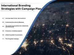 International Branding Strategies With Campaign Plan Ppt PowerPoint Presentation Model Inspiration