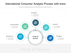 International Consumer Analysis Process With Icons Ppt PowerPoint Presentation File Diagrams PDF