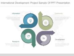 International Development Project Sample Of Ppt Presentation