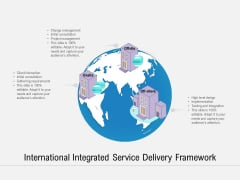 International Integrated Service Delivery Framework Ppt PowerPoint Presentation Layouts Graphics Template PDF