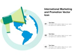 International Marketing And Promotion Vector Icon Ppt PowerPoint Presentation File Objects PDF