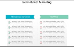 International Marketing Ppt PowerPoint Presentation Summary Samples Cpb