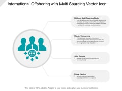International Offshoring With Multi Sourcing Vector Icon Ppt PowerPoint Presentation Pictures Information