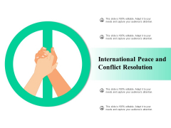 International Peace And Conflict Resolution Ppt PowerPoint Presentation Ideas Templates