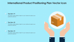 International Product Positioning Plan Vector Icon Ppt Visual Aids Outline PDF