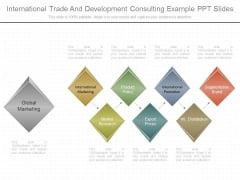 International Trade And Development Consulting Example Ppt Slides